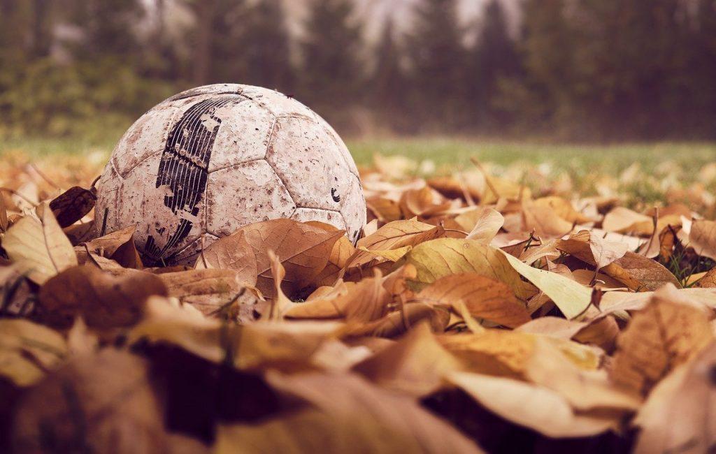 football, autumn, leaves